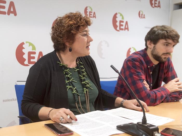 Eba Blanco, urriaren 29an Gasteizen egin zuen agerraldian.