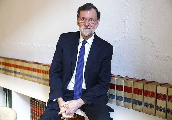 Mariano Rajoy Espainiako gobernuburu ohia, Madrilen, egunotan Eferi emandako elkarrizketan.