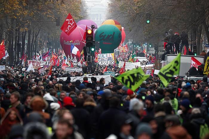 Parisko manifestazioa. / ©JULIEN DE ROSA, EFE