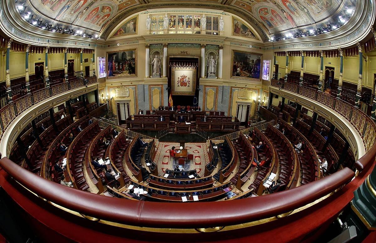 Espainiako Kongresua, apirilaren 9ko saioan. ©Mariscal, EFE