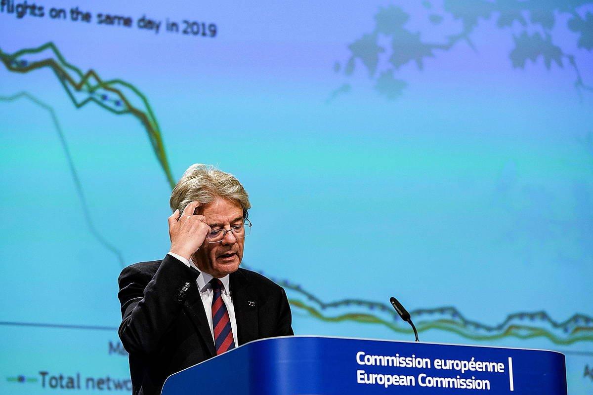 Paolo Gentiloni EBko Ekonomi komisarioa, gaur. ©OrKENZO TRIBOUILLARD / Efe