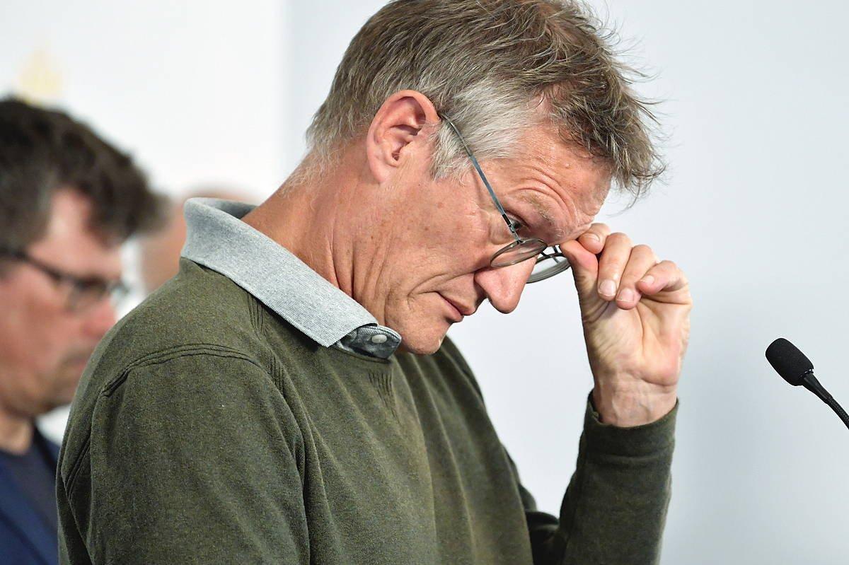 Anders Tegnell Suediako epidemiologia burua, gaur Stockholmen eginiko agerraldi batean. ©ANDERS WIKLUND / EFE