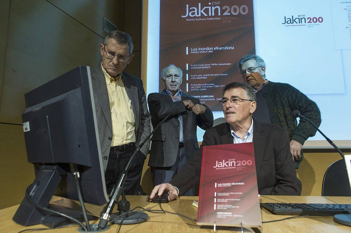 Jakneko lau kide historikoak, Donostian, 2014. ©JON URBE / FOKU