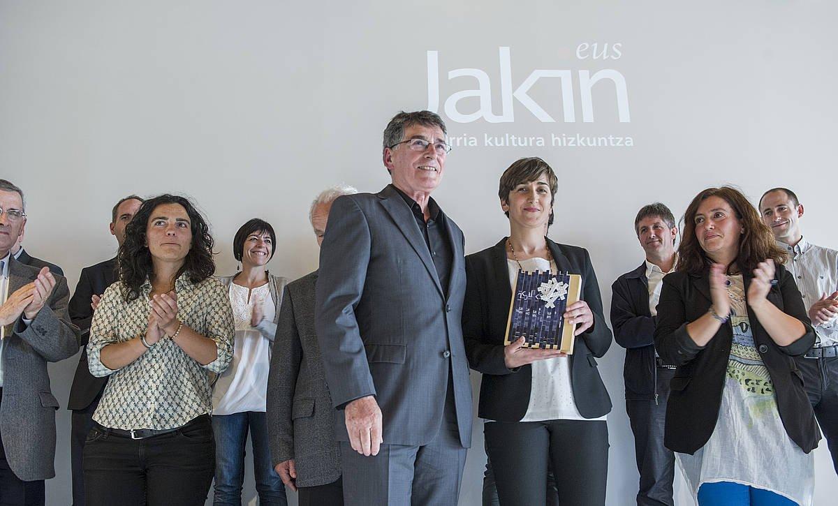 2014an erreleboa eman zuten Jakin aldizkarian: Lorea Agirrek hartu zuen zuzendaritza, talde baten babesarekin. ©JON URBE / FOKU