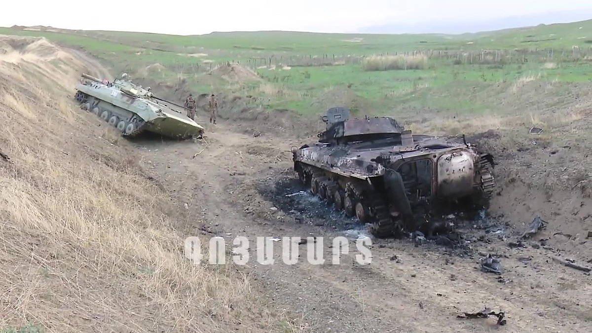 Borrokak lehertu dira Karabakh Garaian