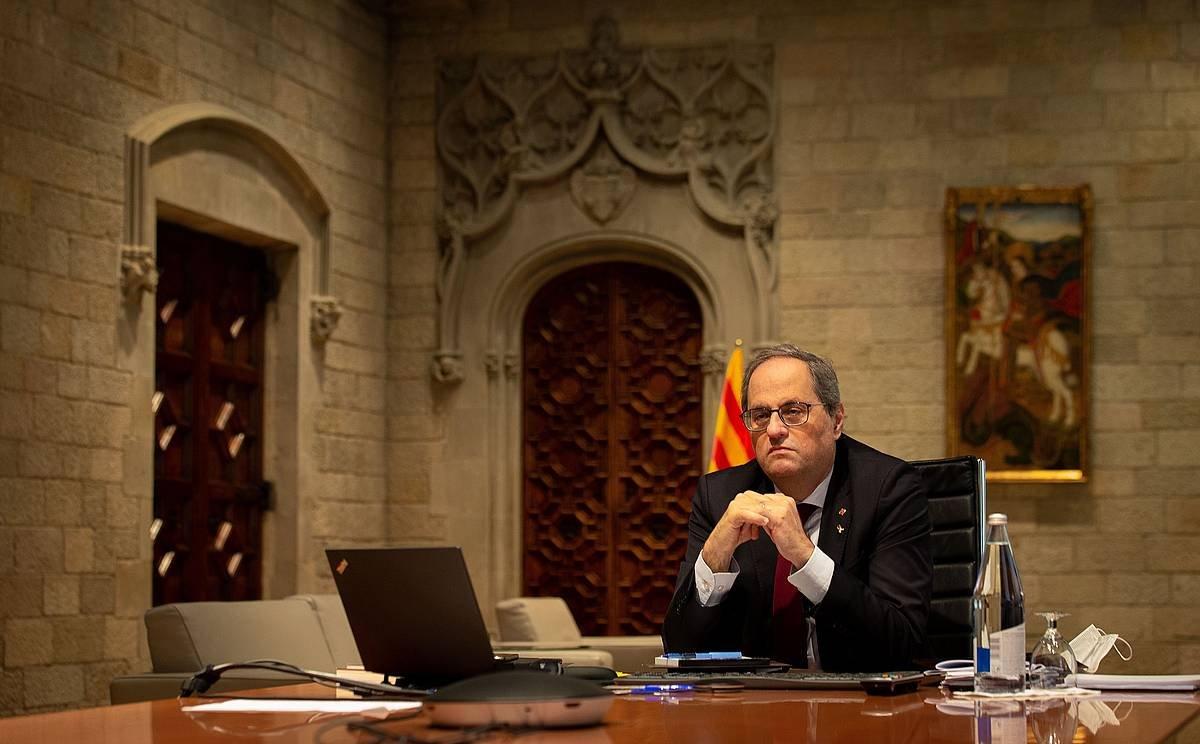 Quim Torra Kataluniako presidentea inhabilitatu du Espainiako Auzitegi Gorenak
