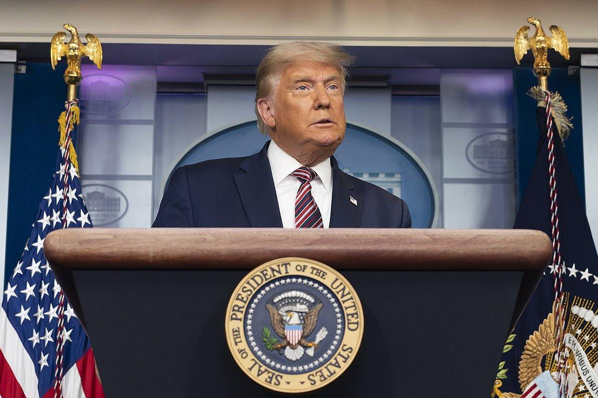 Donald Trump, ostegunean egindako agerraldian. / ©Chris Klponis, EFE