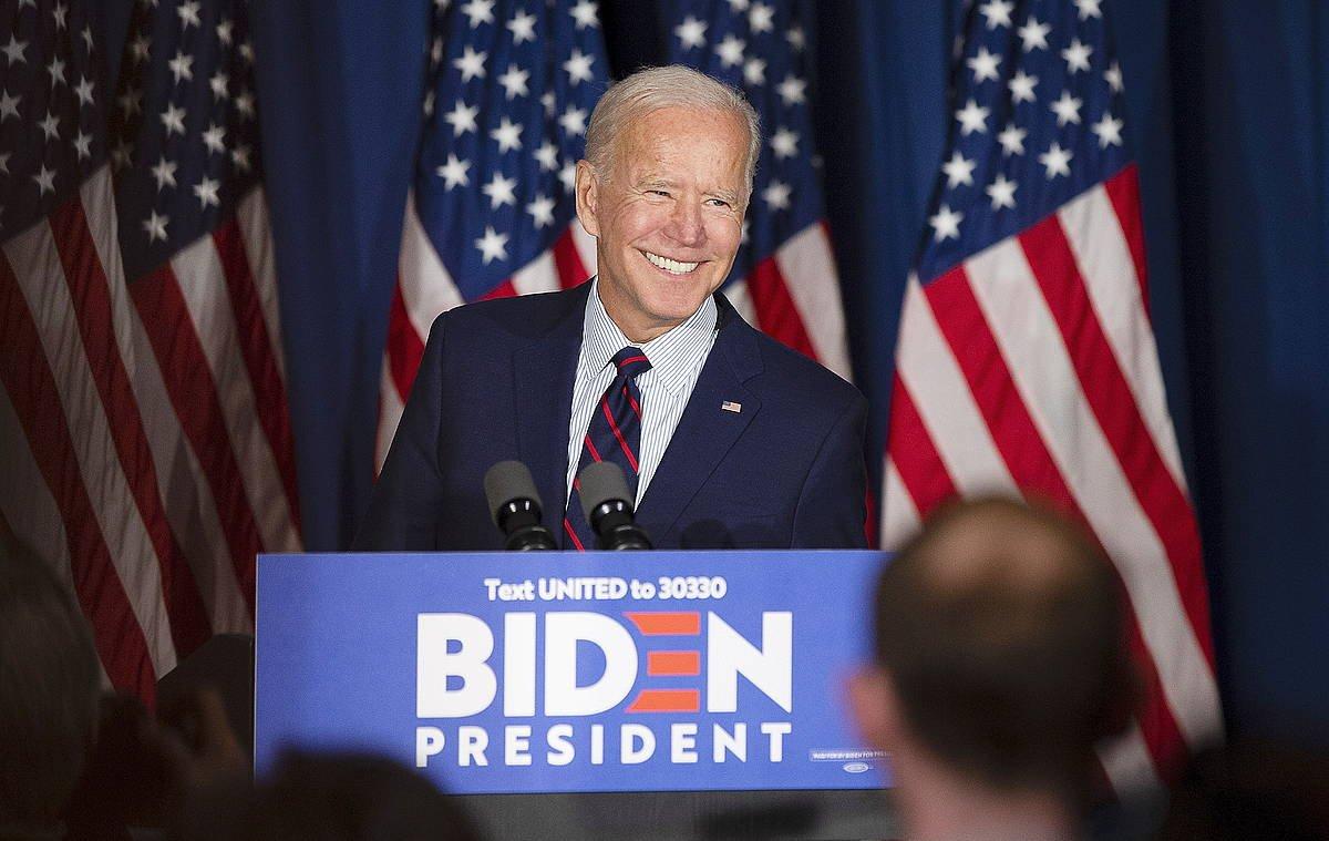 Joe Biden presidentegai demokrata, kanainako une batean. / ©CJ GUNTHER, EFE