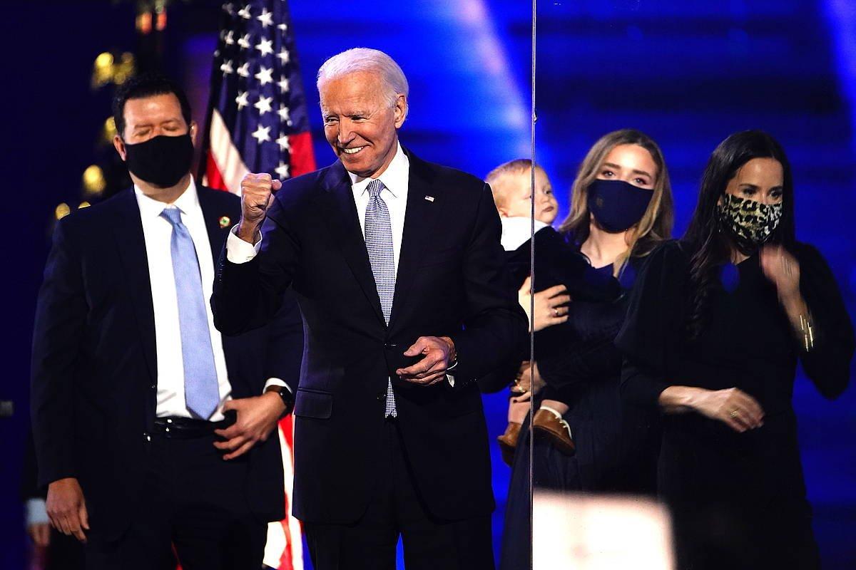Joe Biden AEBetako presidente hautatu berria, hauteskunde ekitaldi batean, joan den azaroan. ©JimLo Scalzo, EFE