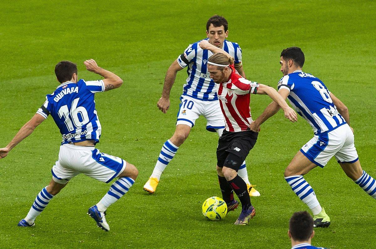 Athleticek eta Realak denboraldi honetan San Mamesen jokatutako derbia. ©Monika del Valle / Foku