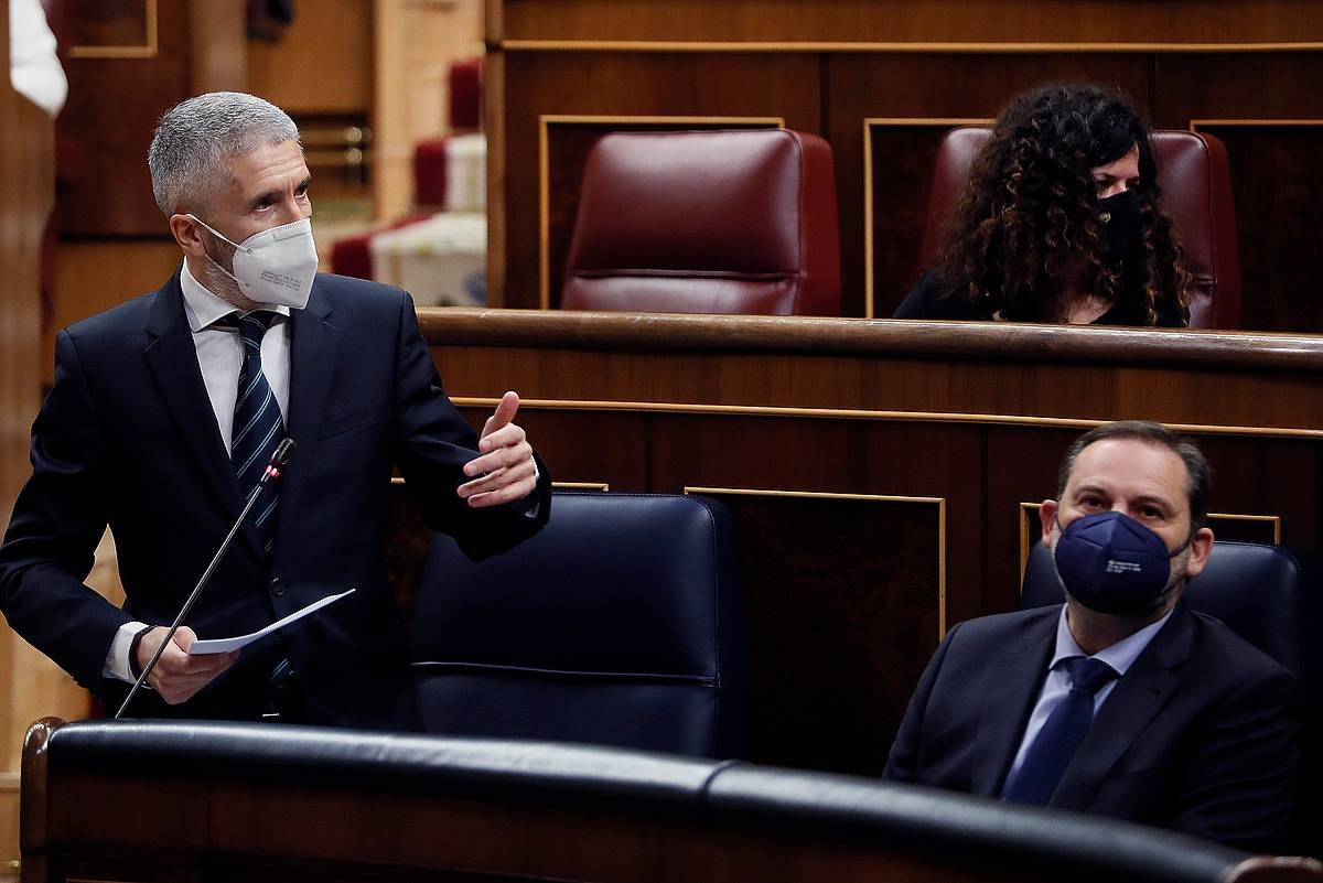 Grande-Marlaska, Espainiako Kongresuan.