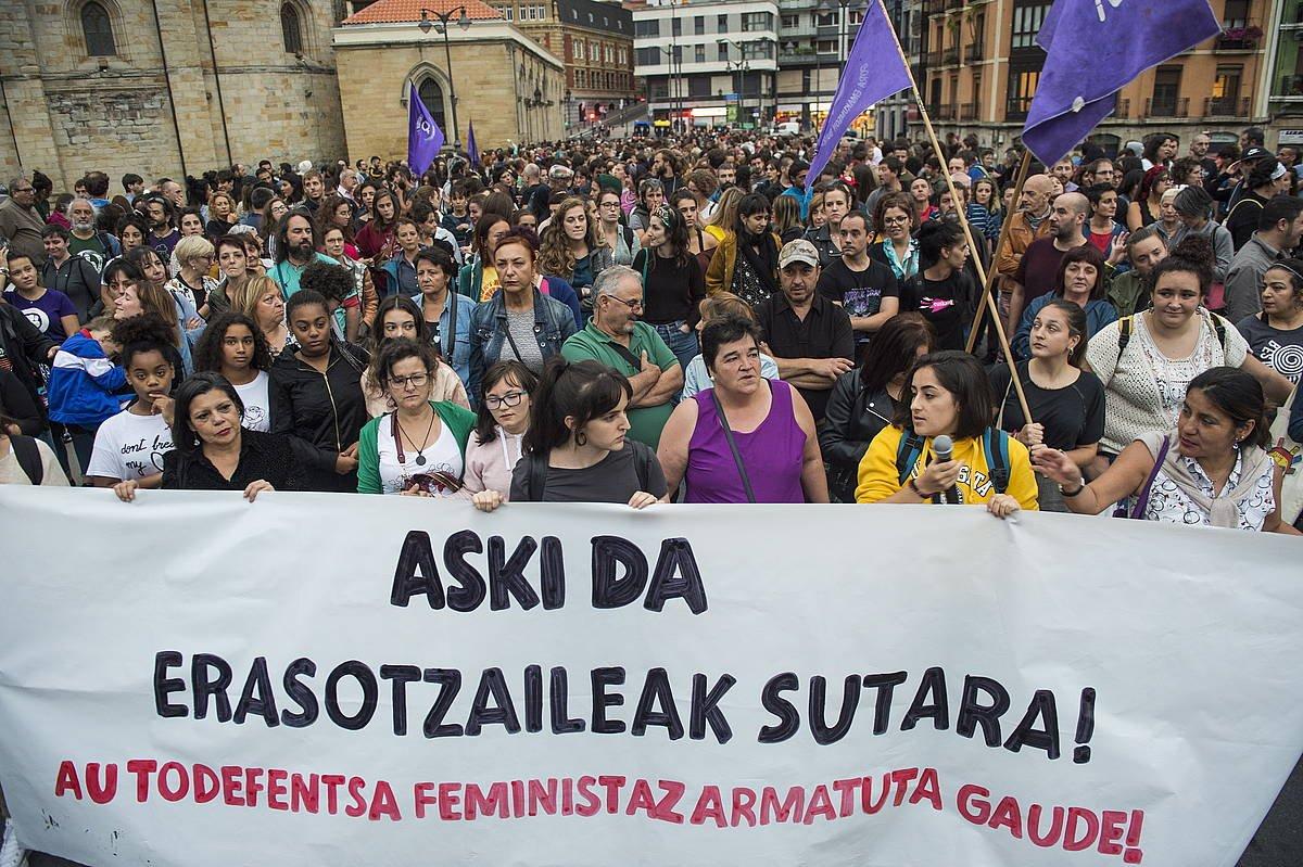 Indarkeria matxistaren aurkako protesta, Bilbon. Artxiboko irudia ©Monika del Valle/ FOKU