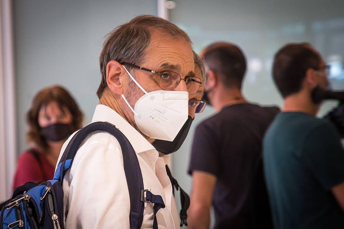 Josu Urrutikoetxea, Parisen, Auzitegi Korrekzionalean, 2011-2013 Osloko mahaiari buruzko epaiketan. ©CHRISTOPHE PETIT TESSON/EFE