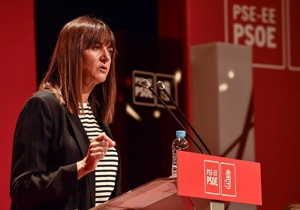 Idoia Mendia, Bilboko Campos antzokian egin den PSE-EEren BIltzar Ttipian ©Miguel Toña / Efe