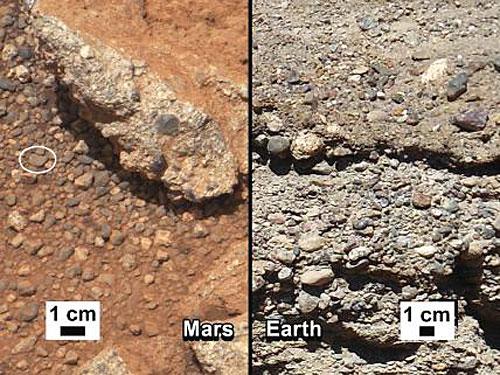 Lurreko eta Marteko irudiak erkatu ditu NASAk