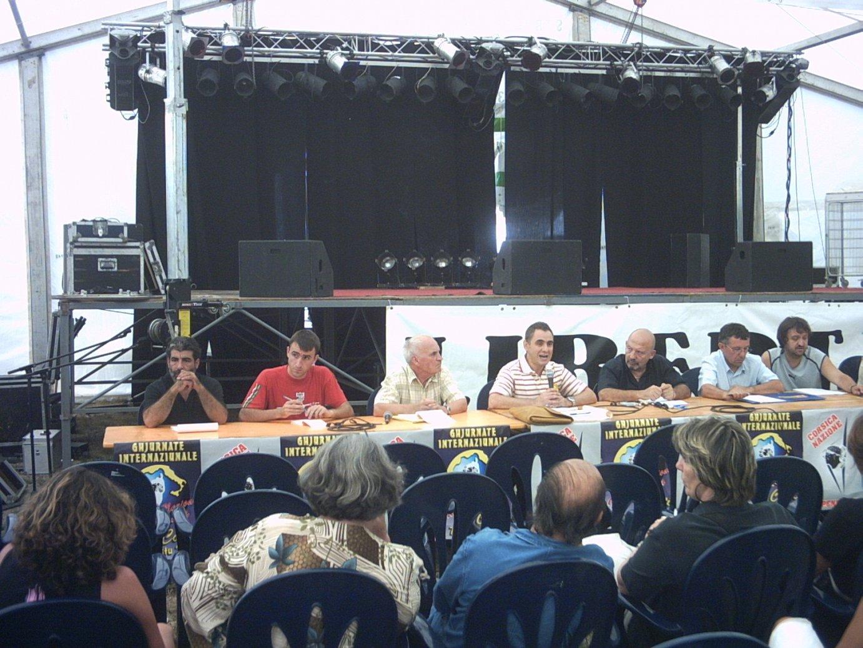 Egoitz Urrutikoetxea, 2004ko udan, Corteko (Korsika) nazioarteko topaketetan