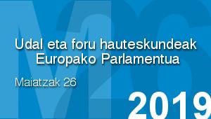 M26 - Udal eta foru hauteskundeak Europako Parlamenturako hauteskundeak