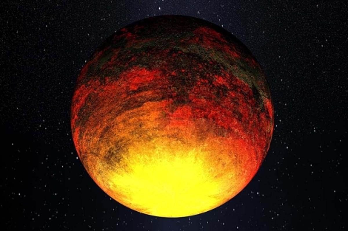 Kepler-10b exoplanetan tenperatura oso altuak daude. ©NASA