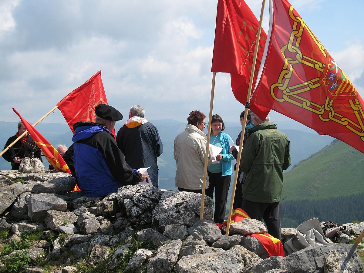 Nabarralde elkarteak Ausa Gaztelun ere egin zuen iaz Nafarroako estatuaren aldeko ekitaldi bat. / ZIRIKA IRRATIA