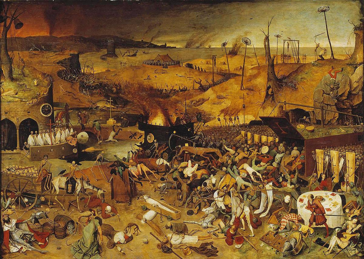 XIV. mendean milioika lagun hil ziren Europan eta Asian izurri beltzarengatik. Herriak eta hiriak hilerri bihurtu ziren.