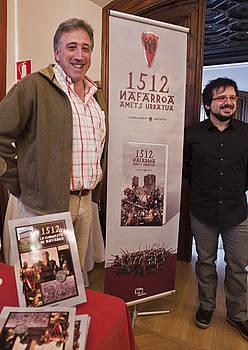 Joseba Asiron eta Martin Altzueta egileak. / LANDER F. ARROIABE / ARGAZKI PRESS