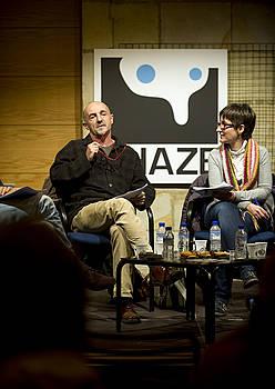 Ramon Agirre eta Ane Zabala, atzo. / MARISOL RAMIREZ / ARGAZKI PRESS