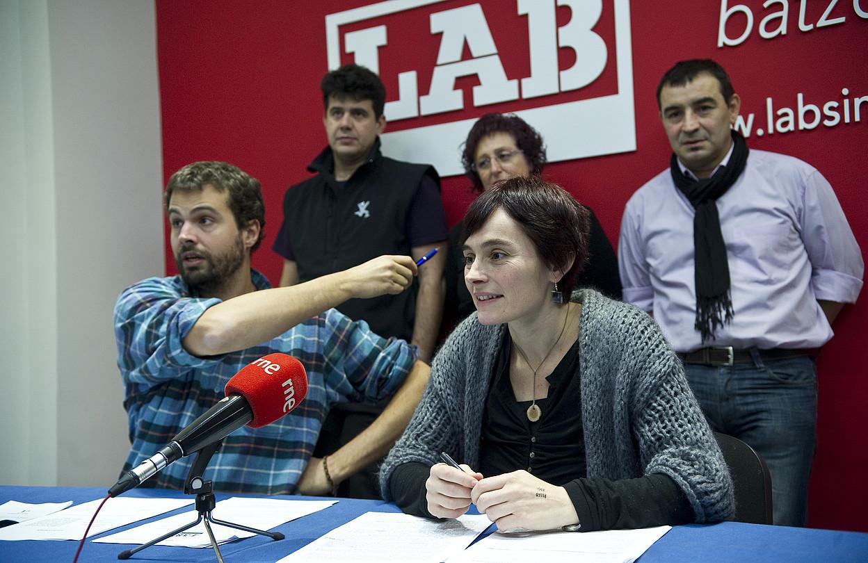 LABeko Igor Arroyo eta Garbiñe Aranburu, atzo. ©JAGOBA MANTEROLA / ARGAZKI PRESS