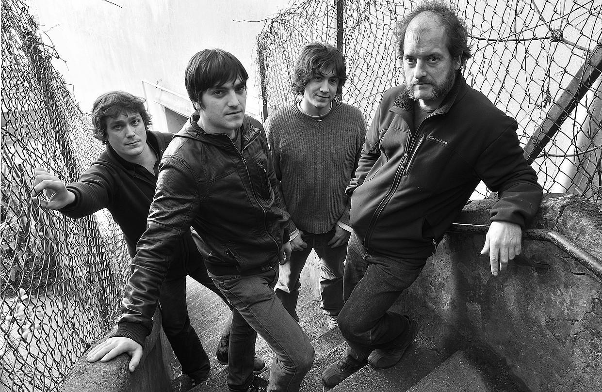 Baionako Willis Drummond rock taldeak kontzertua egingo du gaur, Beran. Irudian, taldekideak. ©BERRIA