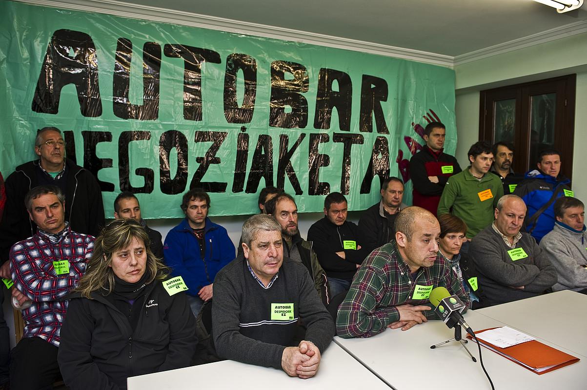 Atzo Beasainen egin zuten agerraldia. ©LANDER F. ARROYABE / ARGAZKI PRESS