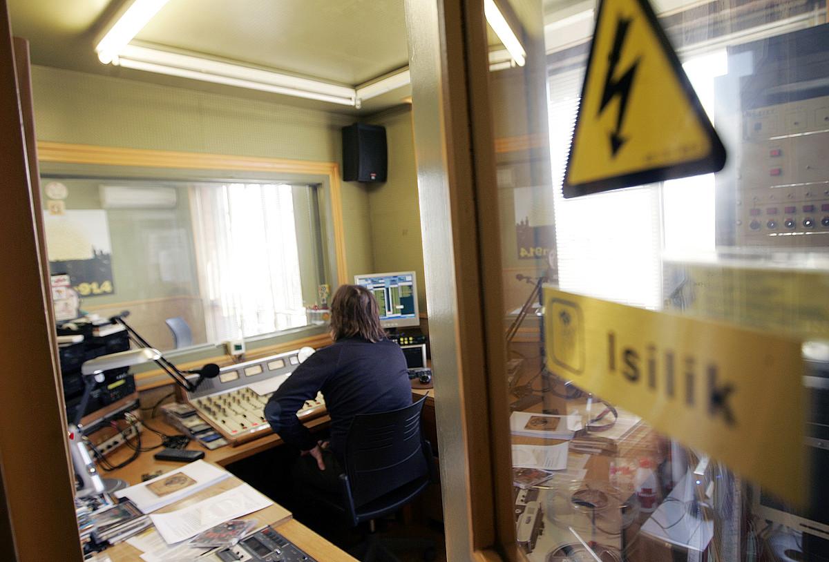 Iruñeko Euskalerria Irratiaren estudioa. / IÑIGO URIZ / ARGAZKI PRESS