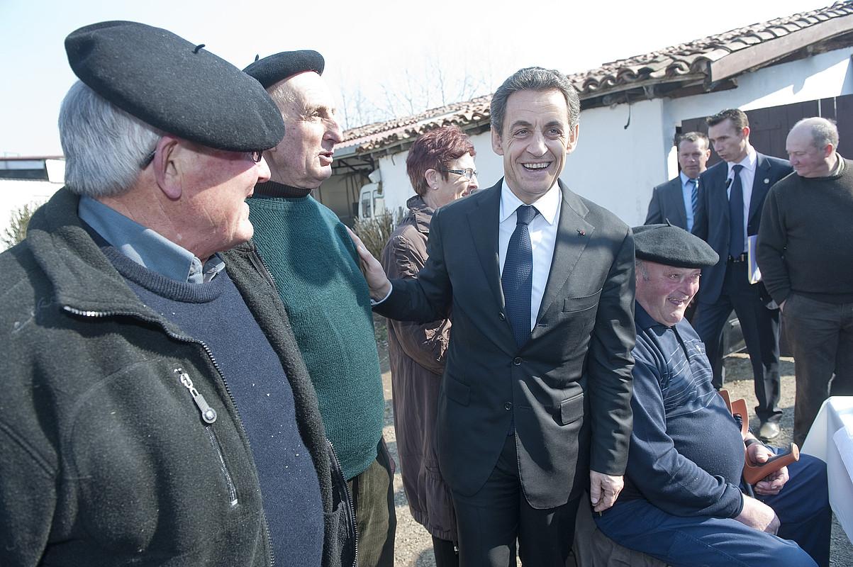 Martxoaren 1ean etorri zen Sarkozy Euskal Herrira. Etxalde bat bisitatu zuen, eta protesta ugari izan ziren bisitaren kontra. / JON URBE / ARGAZKI PRESS