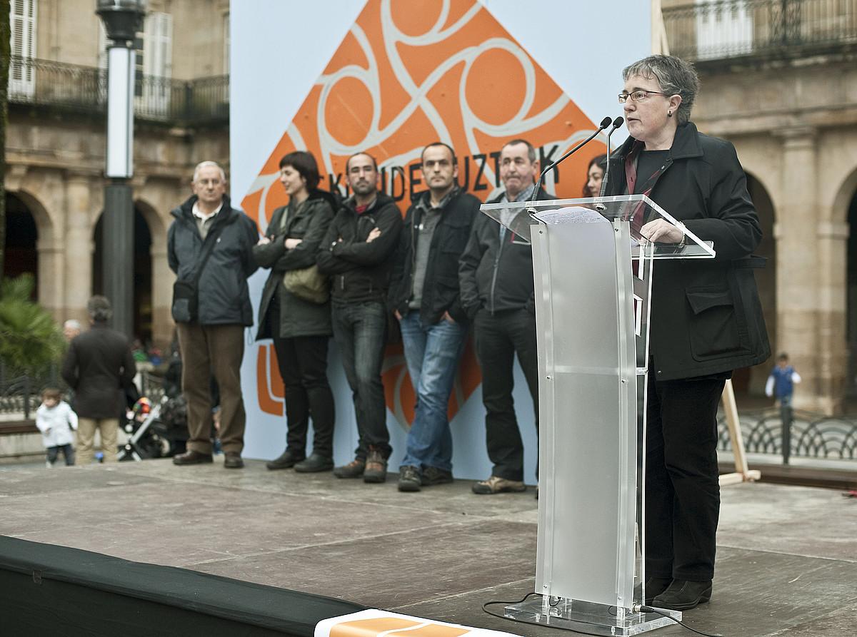 D3M eta Askatasunaren auziko auzipetuen ekitaldia, Bilbon. / JON HERNAEZ / ARGAZKI PRESS