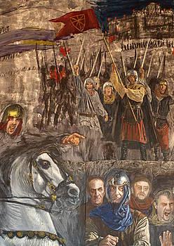Xabier Morras artistaren <em>Amaiur 1521 duintasuna eta zintzotasuna</em> margolanaren zirriborroa. / 1512-2012 NAFARROA BIZIRIK EKIMENA