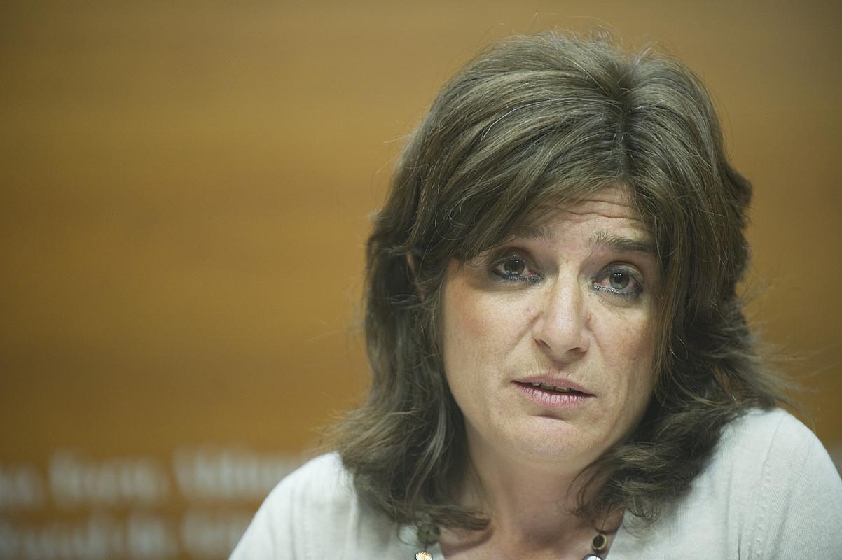 Helena Franco Ogasun diputatua, atzo. ©ANDONI CANELLADA / ARGAZKI PRESS