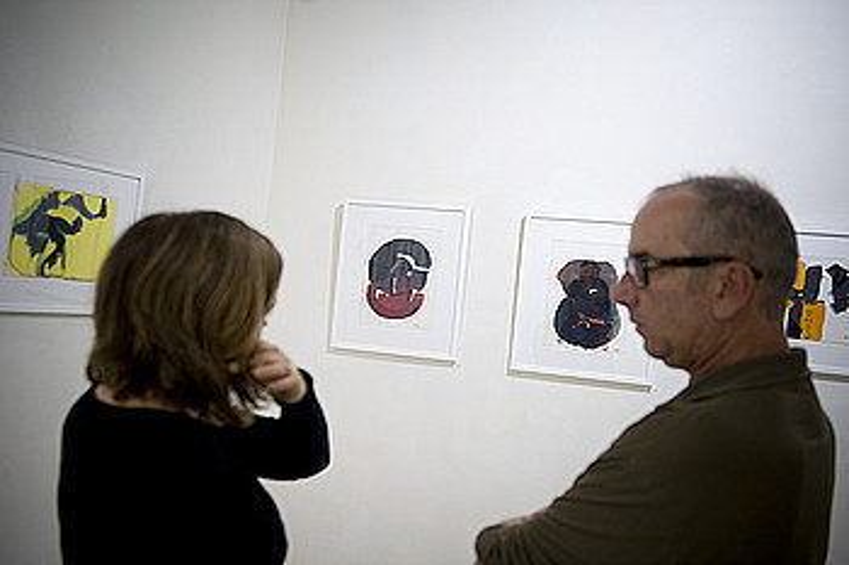 Orotara, 30 pintura, hamar poema eta oleo handi bat daude ikusgai Ekain arte galerian. ©GORKA RUBIO / ARGAZKI PRESS