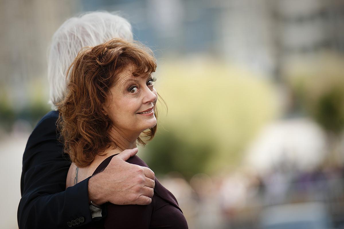 Susan Sarandon eta Richard Gere argazki kamera guztien joguma izan ziren atzo. / GARI GARAIALDE / ARGAZKI PRESS