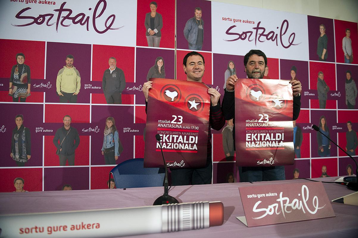 Hasier Arraitz eta Joseba Alvarez, atzo. / JUAN CARLOS RUIZ / ARGAZKI PRESS