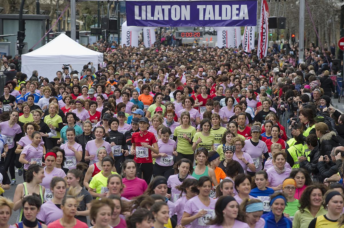 Urtez urte handitzen doa Lilatoieko parte hartzaileen kopurua: aurten, 3.000tik gertu arituko dira lasterka. / ANDONI CANELLADA / ARGAZKI PRESS