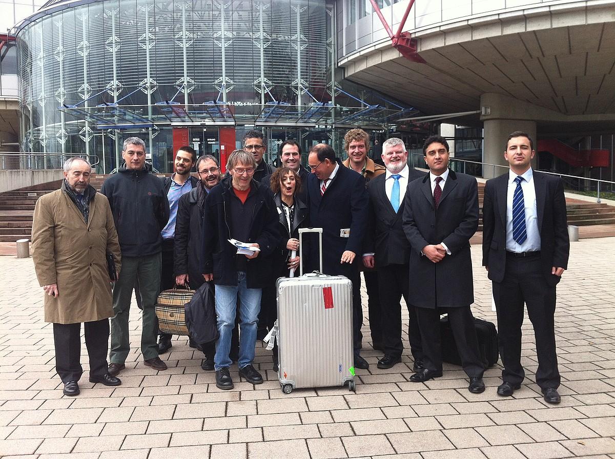Euskal Herritik Estrasburgora joandako ordezkaritza. / OIHANA ELDUAIEN