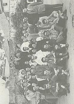 Embatako ikasle batzuk, Donibane Garazin, 1950 inguruan.