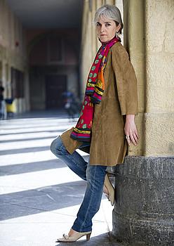 Lourdes Oñederra, atzo, Donostian.