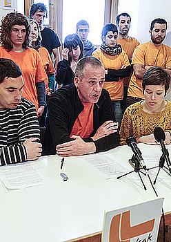 Iruñeko prentsaurrekoa, atzo. / JAGOBA MANTEROLA / ARGAZKI PRESS