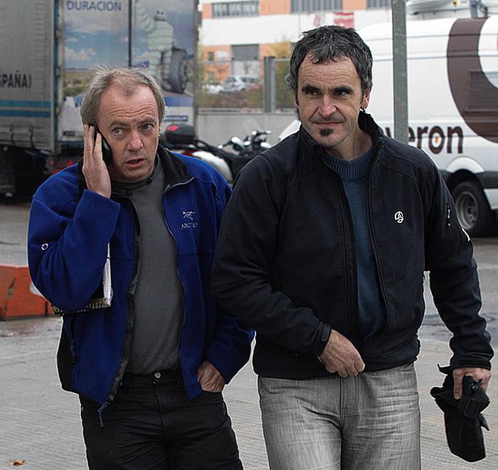 Jon Gorrotxategi eta Mikel Arregi, atzo, auzitegira bidean. / J. DANAE / ARGAZKI PRESS