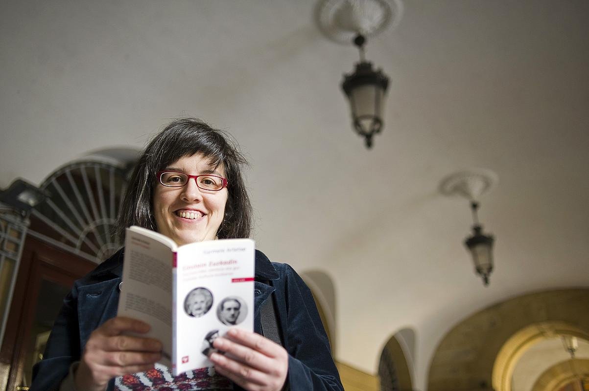 Karmele Artetxe, atzo, Donostian. ©JUAN CARLOS RUIZ / ARGAZKI PRESS