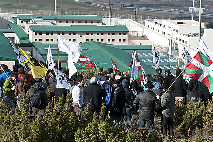 Txus Martin presoaren aldeko plataformak 2011n Zaballara egindako martxa. Gaixotasun larria du. / J. HERNAEZ/ ARP