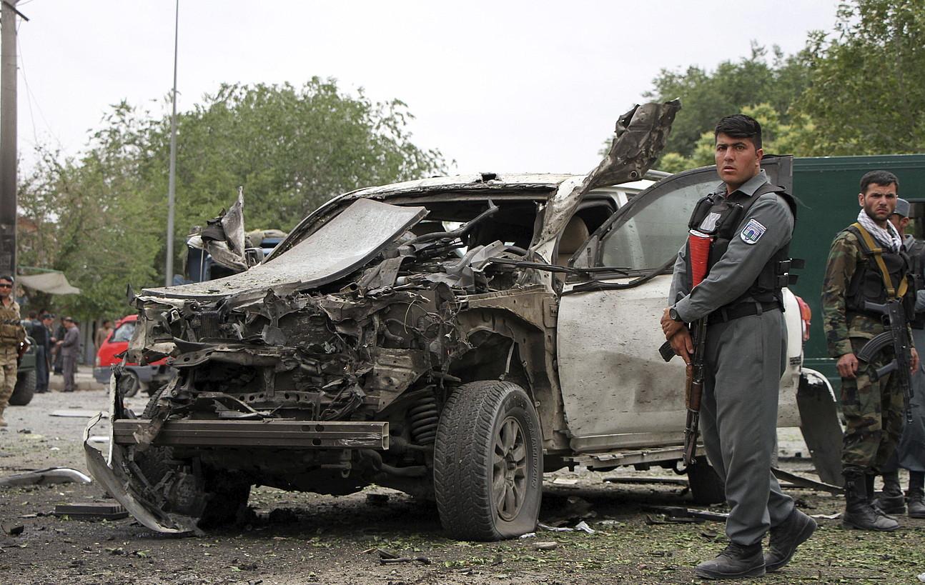 Bonba-auto bat, Abdullahen konboiaren kontra zartarazia.