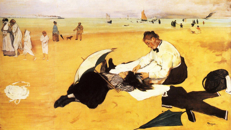 <b>Edgar Degasen <em>Scene de plage</em> (1869-70)</b> ©EDGAR DEGAS / BERRIA