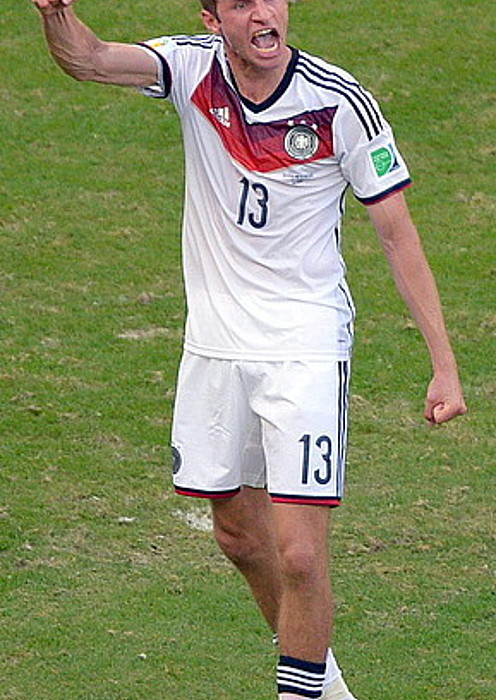 Thomas Mueller, gol bat ospatzen, Portugalen aurkako partidan. / T. EISENHUTH / EFE