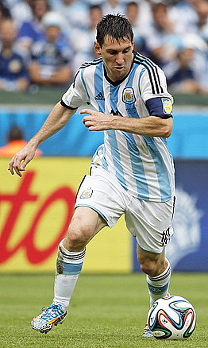 Leo Messi Argentinako selekzioko izarra, Nigeriaren aurkako partidan. / A. B. / EFE