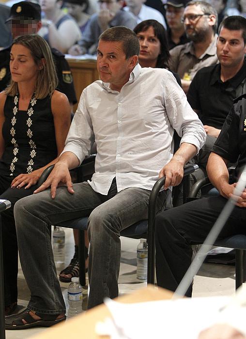 Zabaleta, Otegi, Jacinto eta Rodriguez, Espainiako Auzitegi Nazionalean, 2011ko ekainean. / EFE